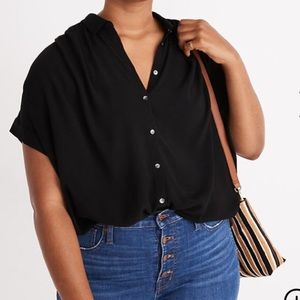 Madewell black Central Drapey Shirt size 3x
